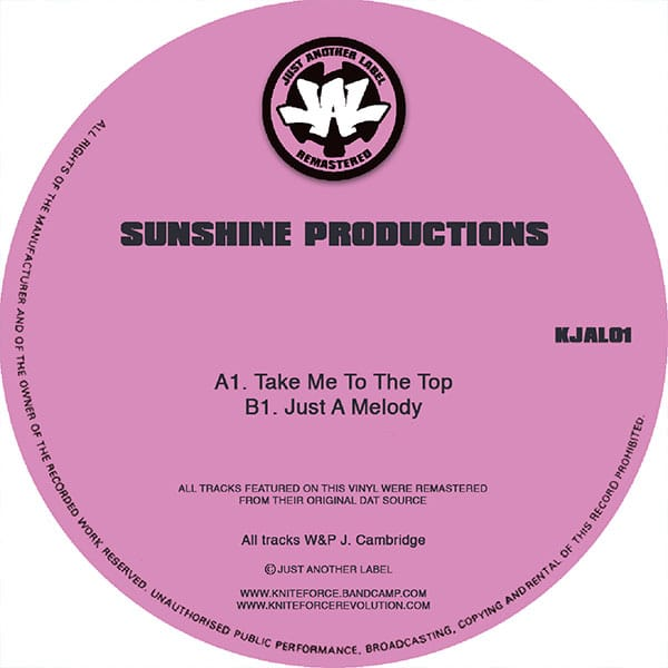 Sunshine Productions – Take Me To The Top / Just A Melody